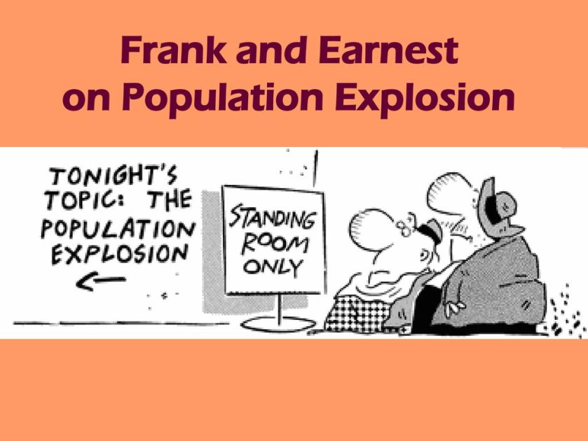 Frank and Earnest on Population Explosion
